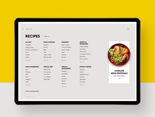 餐馆网站UI设计