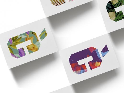 25张几何元素海报设计