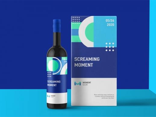 创意清新风格酒类公司VI设计