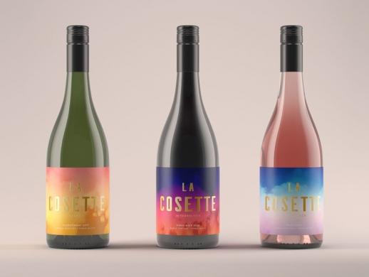 炫彩风格葡萄酒酒标设计