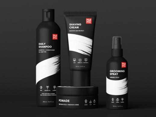 视觉冲击力超强的黑武士系列男士化妆品包装设计