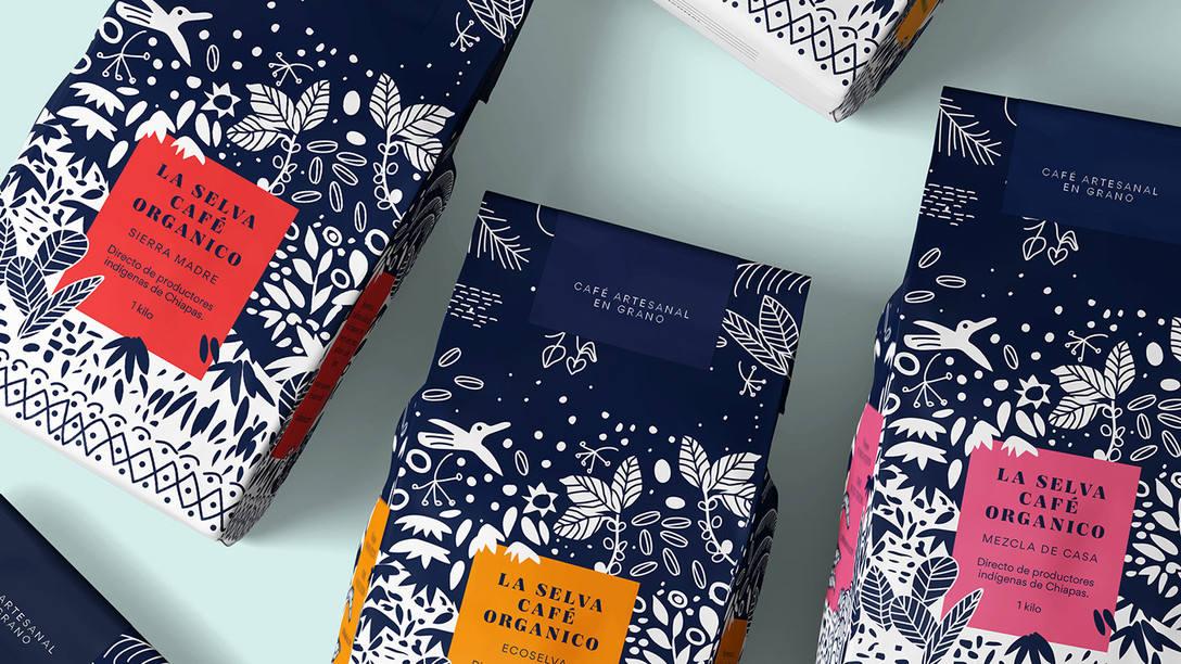 咖啡包装袋设计 飞特网 食品包装设计