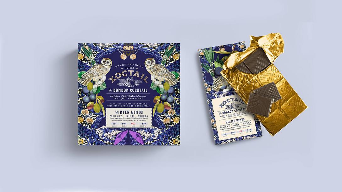 插画风格巧克力包装设计 飞特网 食品包装设计