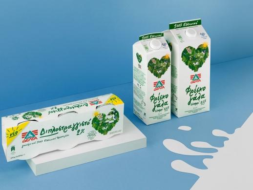 酸奶和牛奶包装设计