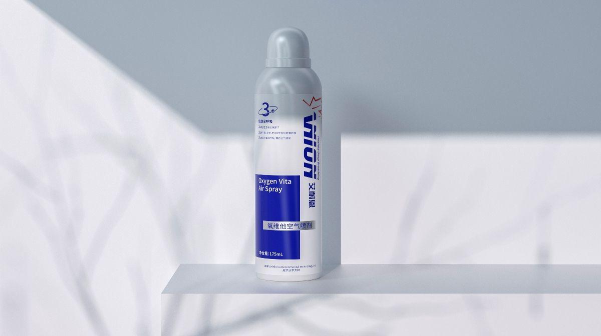 艾耐恩 氧维他空气喷雾包装设计 飞特网 工业产品包装设计