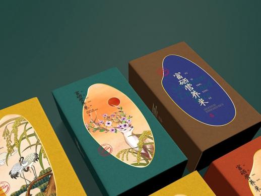 鹤泉净米礼盒设计(富硒营养米)