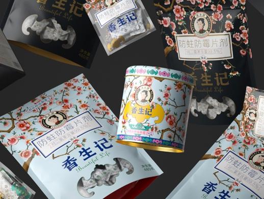 香生记防霉片礼盒包装设计