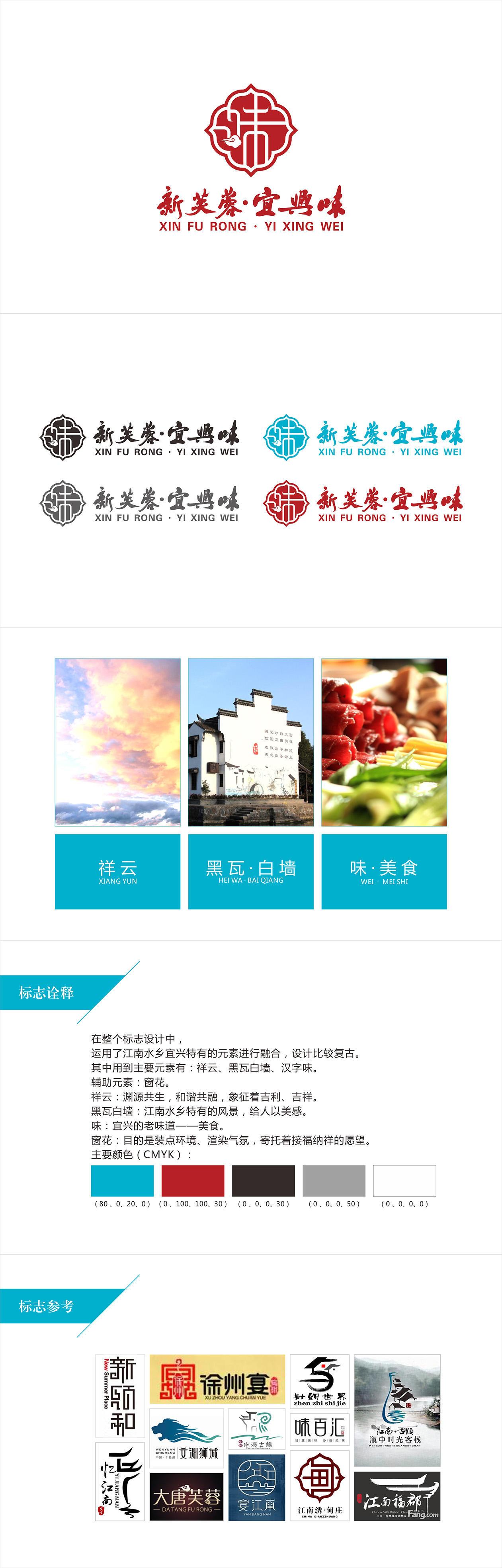 新芙蓉·宜兴味 logo设计 飞特网 标志设计