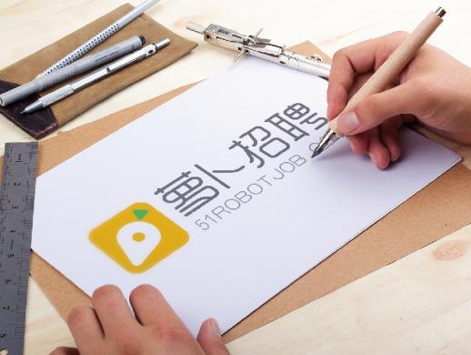 萝卜招聘蓝领招聘平台logo设计