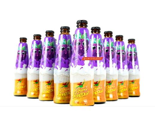 海伦司 X 古一设计|海伦司葡萄果味啤酒包装设计