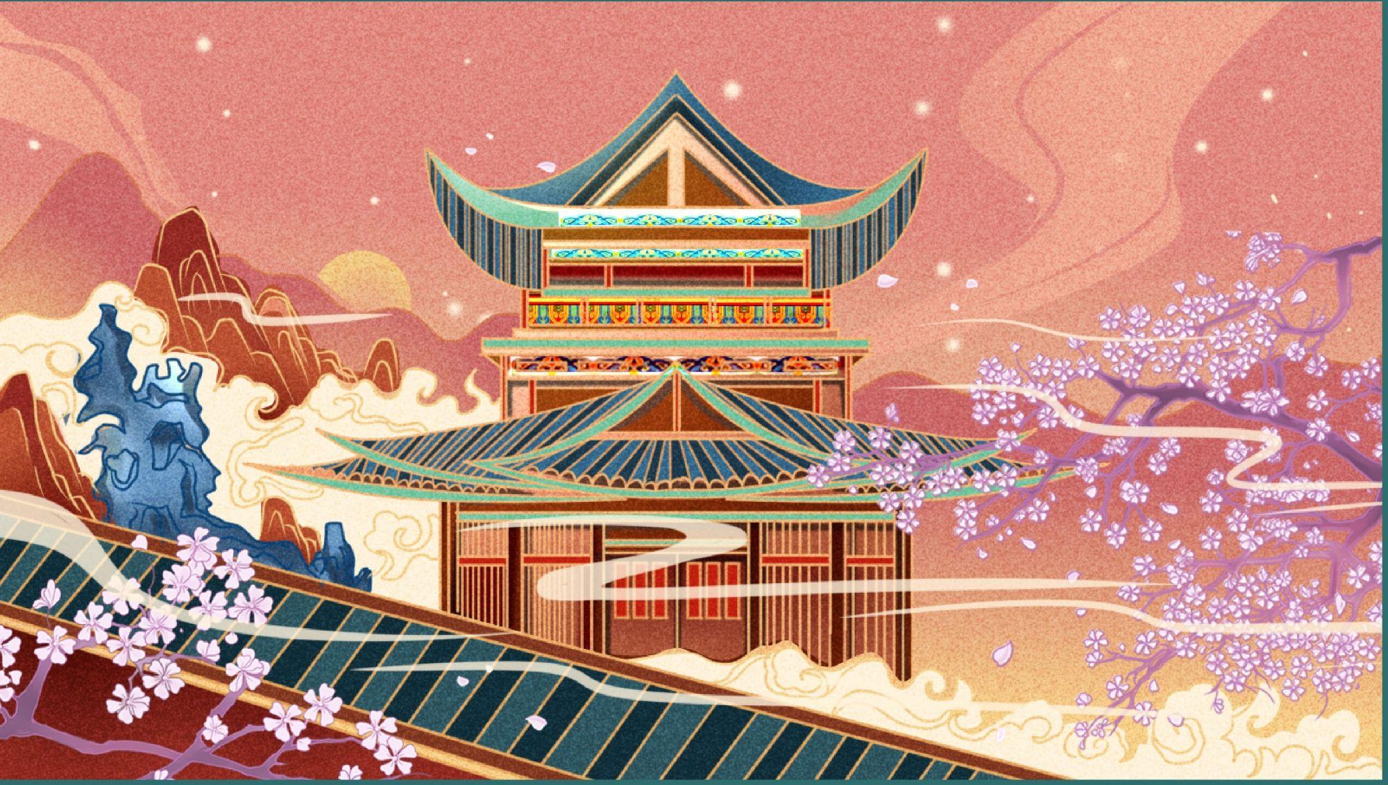 插画设计-新中国风插画绘制详细教程 飞特网 商业插画设计