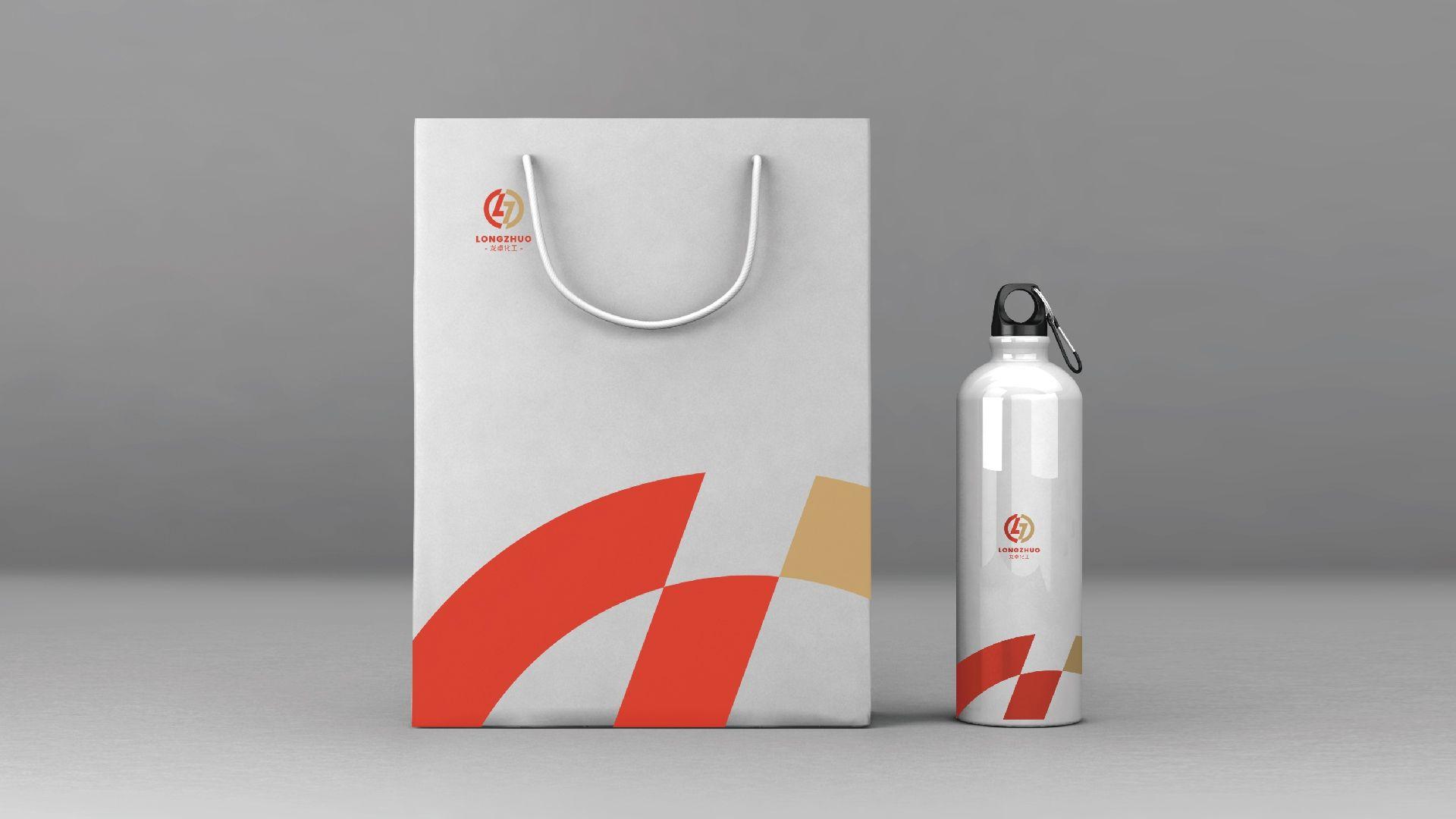 龙卓化工品牌形象标志设计VI设计 飞特网 VI设计