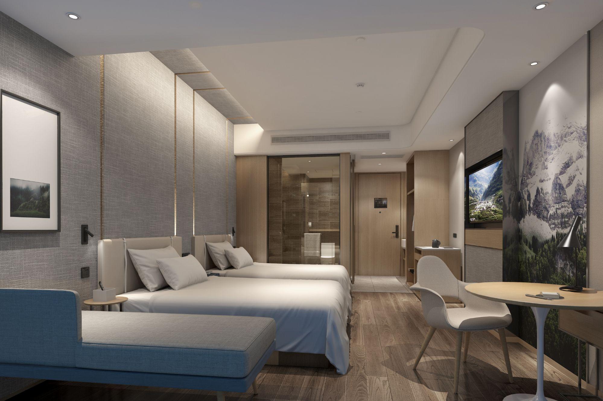 廊坊亚朵酒店设计案例 飞特网 原创酒店设计