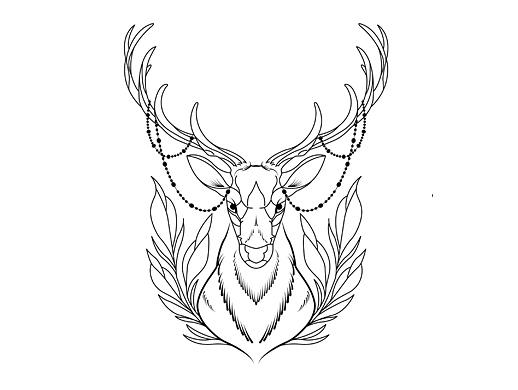 手绘——鹿