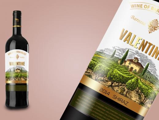 一套澳洲红酒酒标设计