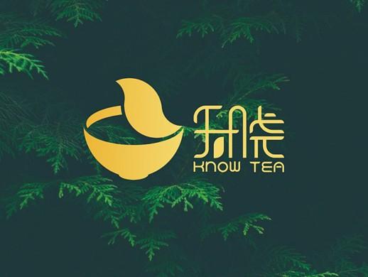 知晓茶饮logo设计