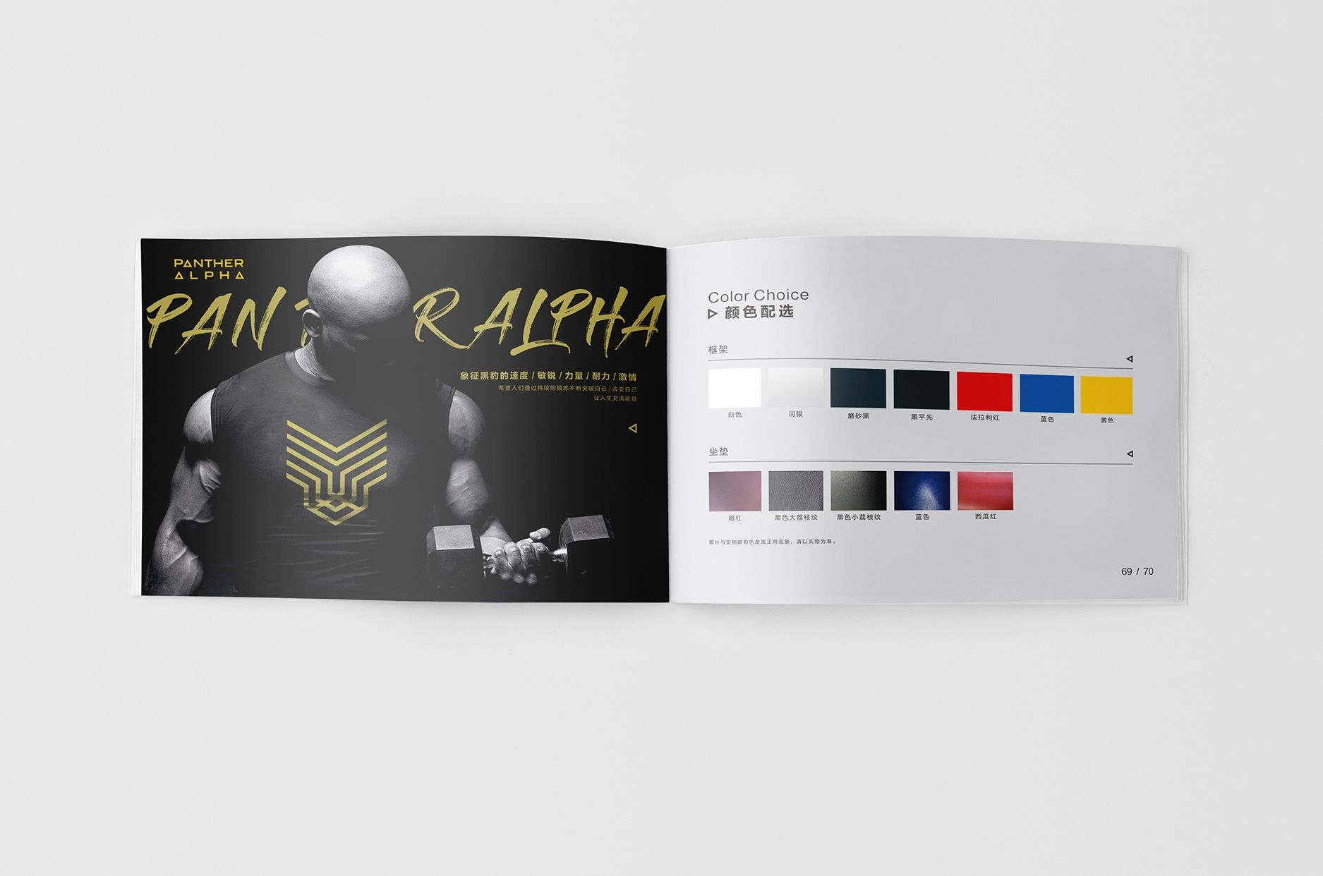 健身行业画册设计 飞特网 原创画册设计