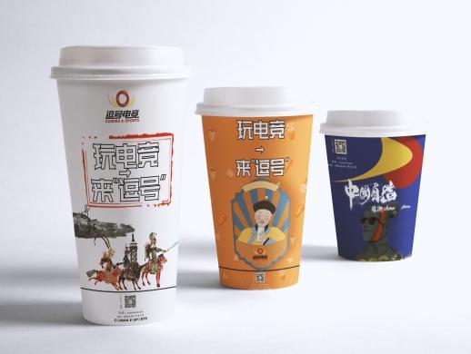 国潮风奶茶杯设计