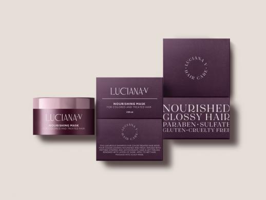 紫色质感风格化妆品包装设计