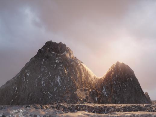 山脉 小雪材质