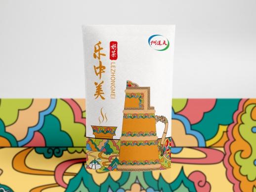 民族风奶茶包装设计