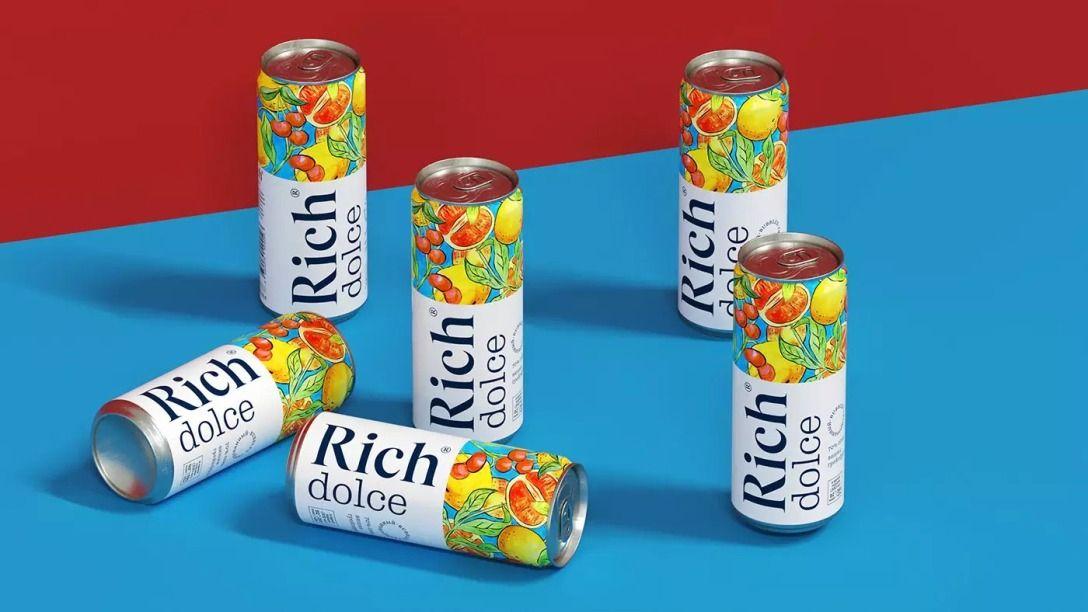 插画风格果汁饮料包装设计 飞特网 饮料包装设计