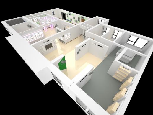 公司展厅建模