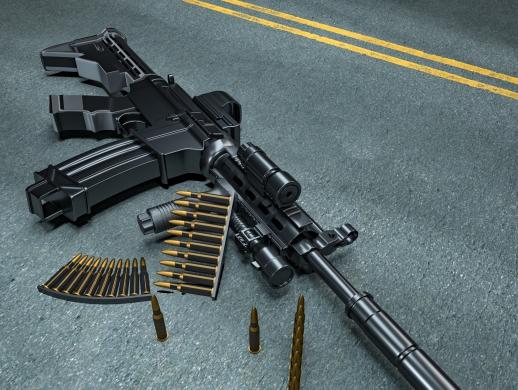 枪械建模场景