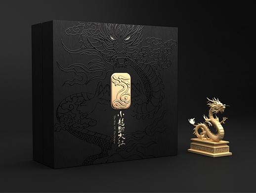小龙翻大江火锅 火锅底料包装设计 伴手礼礼盒包装设计