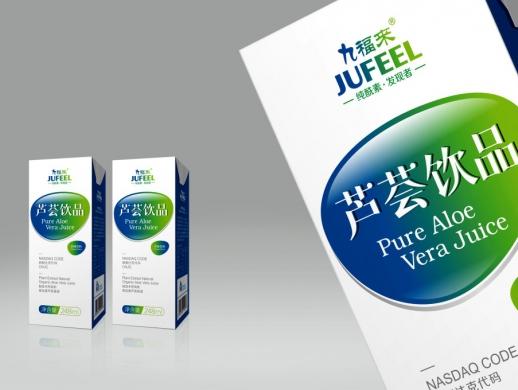 九福来芦荟饮品包装盒设计