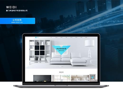 韦迪科技官网设计