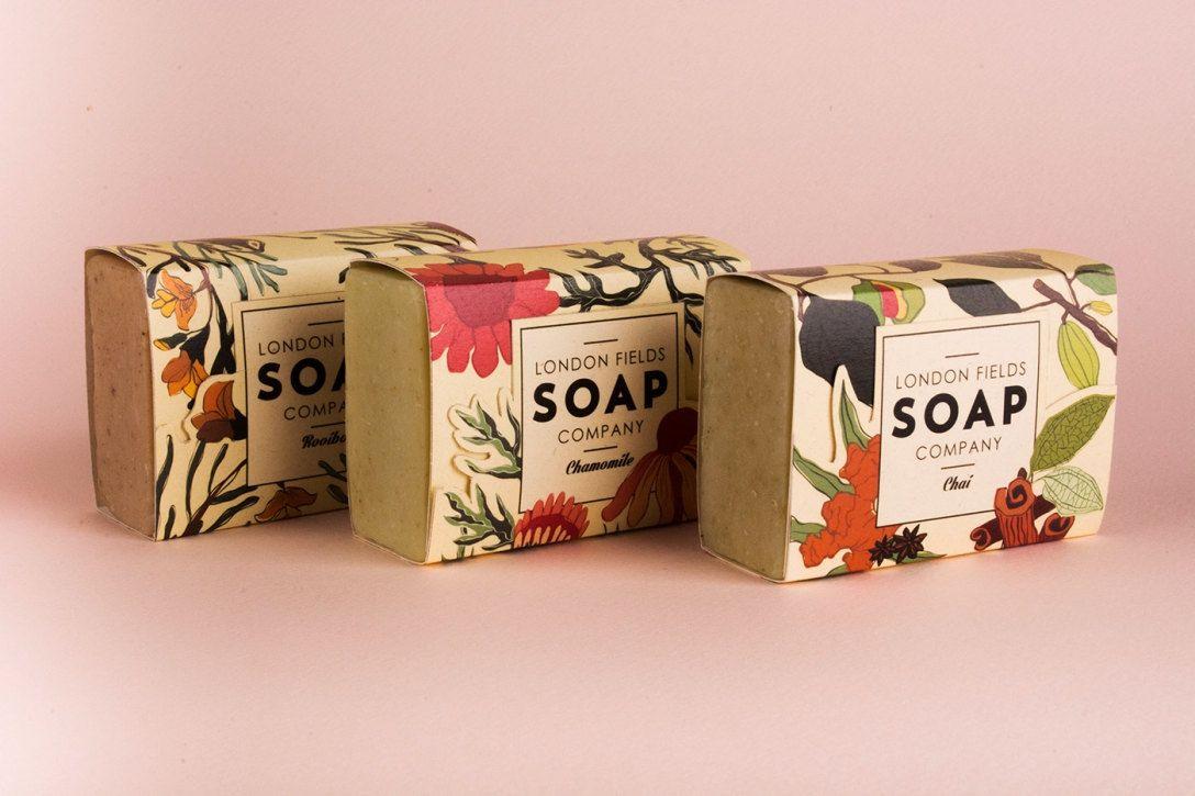 自然风香皂包装设计