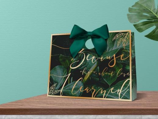 婚庆礼品袋图案设计