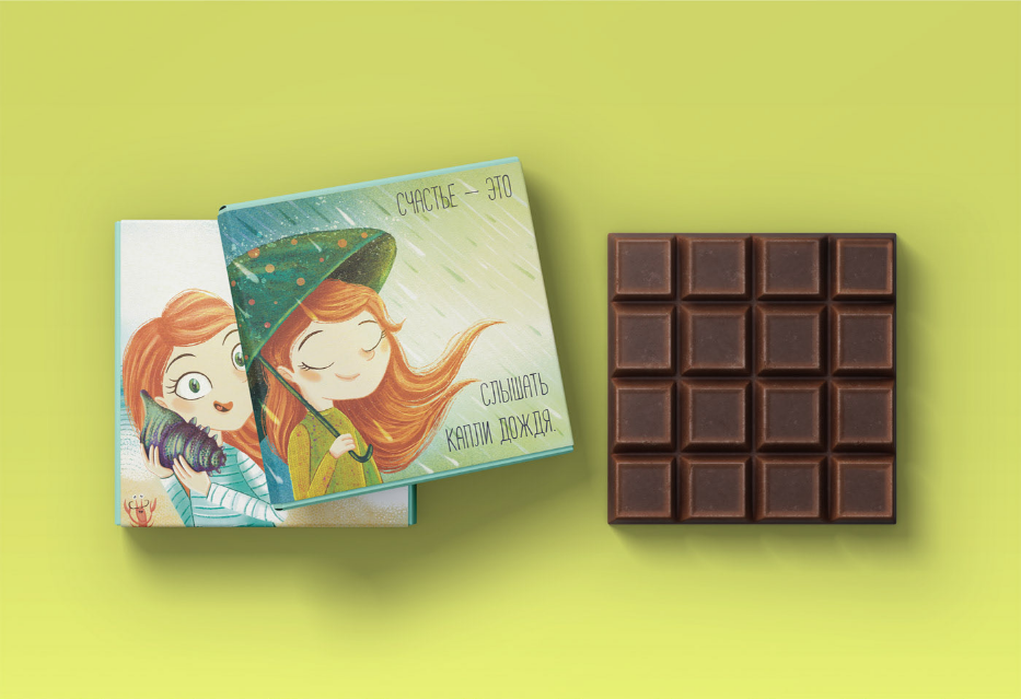 亲子插画巧克力包装设计 飞特网 食品包装设计