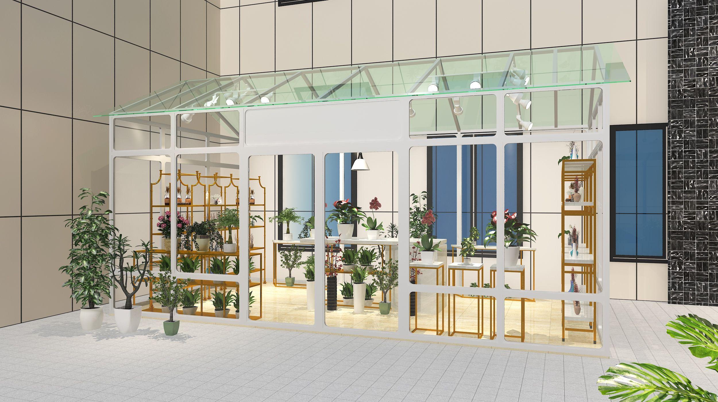 商城店铺室内工装效果图设计 飞特网 商品陈列设计