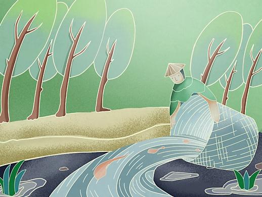 渔业-----国风插画,ip形象