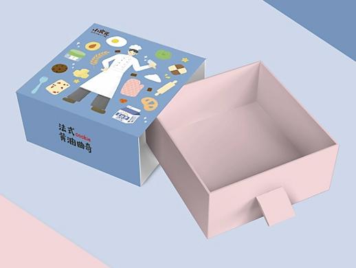 曲奇零食包装插画包装外包装盒设计手绘包装