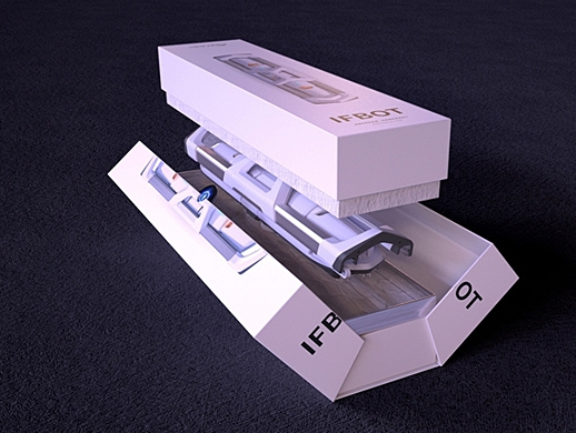 IFBOT光伏清洁机器人包装设计