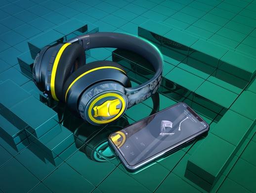 漫威头戴式+无线式蓝牙耳机-建模渲染