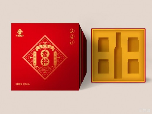 红星酱坊国风包装设计