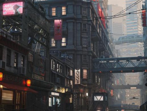创建一个未来的科幻城市