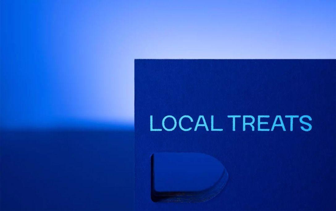 蓝色系餐厅标志设计 飞特网 标志设计
