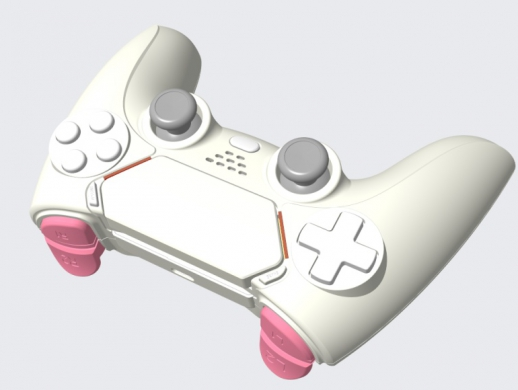 工业设计3:---游戏手柄外观和结构设计