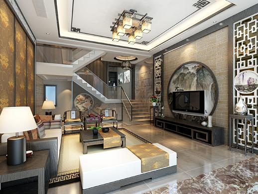 复式客厅和主卧家装设计