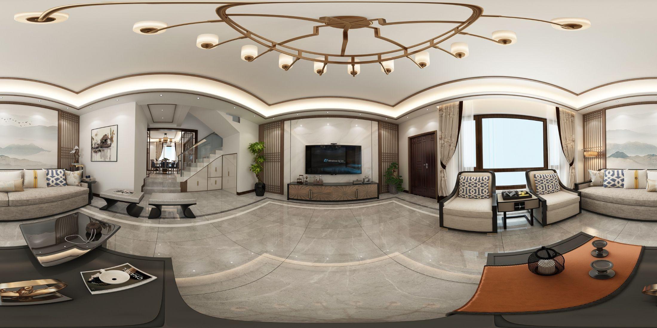 新中式室内设计案例 飞特网 原创室内设计