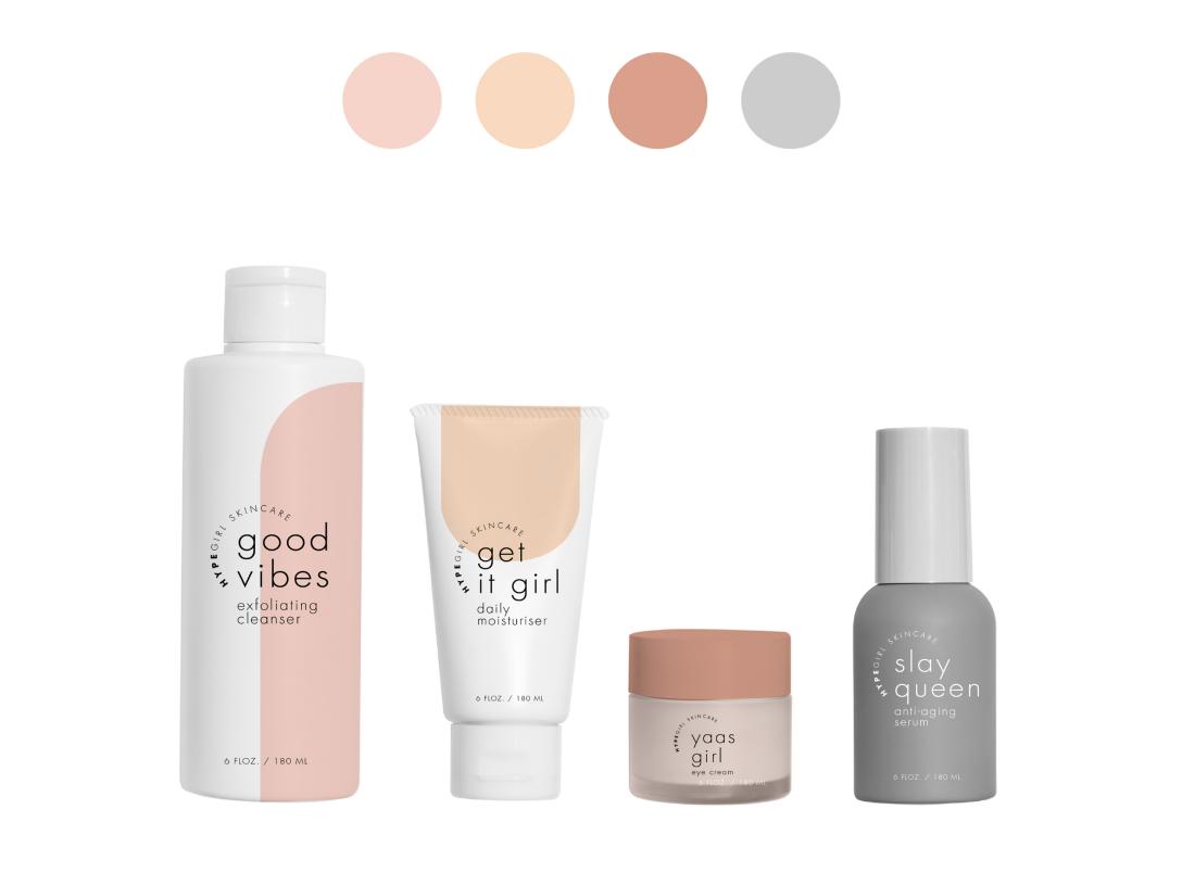 柔美风格护肤品套装包装设计 飞特网 化妆品包装设计