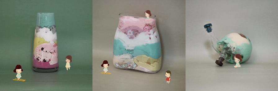 作品中插入了奈良美智的娃娃 - 瑞云渲染