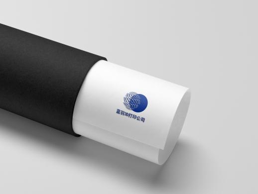 蓝羽3D打印公司logo设计