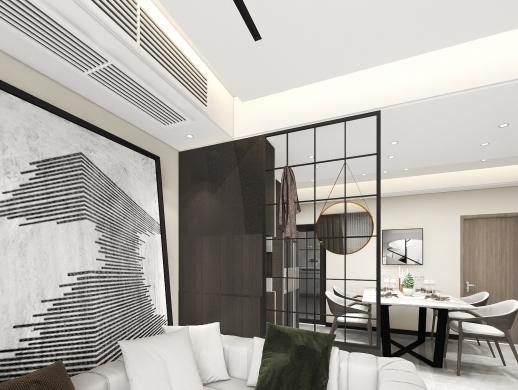 现代咖色温暖空间设计