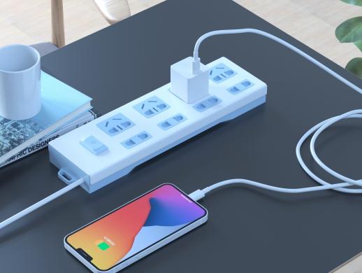 充电器、充电头部分渲染图